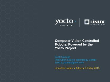 Computer Vision Controlled Robots, Powered by the Yocto Project