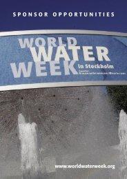 Sponsor Opportunities 2008.indd - World Water Week