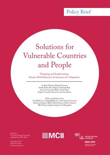 Solutions for Vulnerable Countries and People - Munich Climate ...