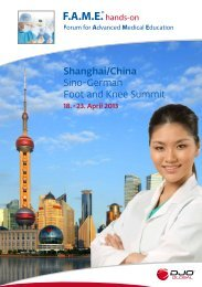 Shanghai/China Sino-German Foot and Knee Summit - DJO Global