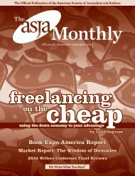 September 2009 - The ASJA Monthly