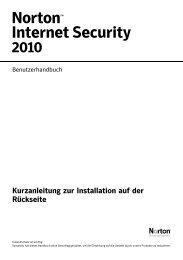 Norton Internet Security Benutzerhandbuch
