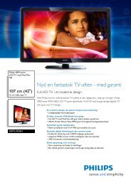 42PFL4506H/12 Philips LCD-TV med Pixel Plus HD - Lomax