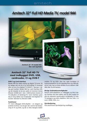 """Amitech 32"""" Full HD TV med indbygget DVD, USB ... - Lomax"""