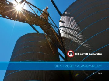 "SUNTRUST ""PLAY-BY-PLAY"" - Bill Barrett Corporation"