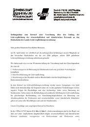 1 Stellungnahme zum Entwurf einer Verordnung über den Umfang ...