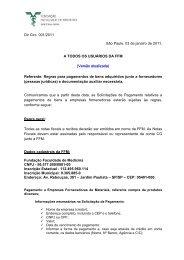 Dir. Circ. 01/2011 - FFM - Fundação Faculdade de Medicina