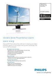 225B2CS/00 Philips LCD-skærm med PowerSensor - Lomax