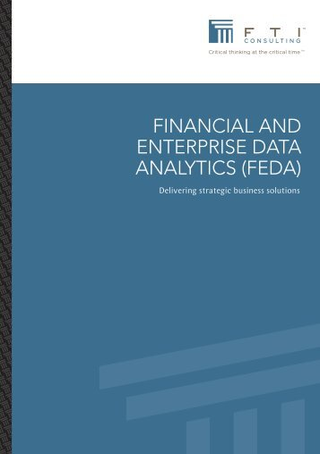 financial and enterprise data analytics (feda) - FTI Consulting