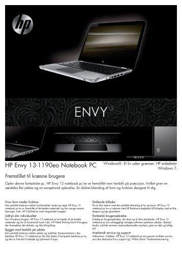 PSG Consumer 1C10 HP Notebook Envy Datasheet - Lomax