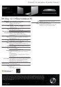 PSG Consumer 1C10 HP Notebook Envy Datasheet - Lomax - Page 2