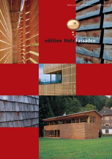 Download der proHolz-Edition Fassaden aus Holz - Gat