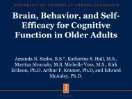 Brain, Behavior, and Self-Efficacy for Cognitive Function in Older ...