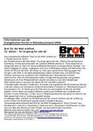 Brot für die Welt eröffnet 52. Aktion - evangelischer Kirchenkreis ...