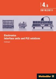 Каталог Weidmuller: Electronics – Interface units and PLC solutions