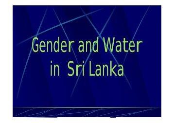 K. Athukorala Gender and Water in Sri Lanka