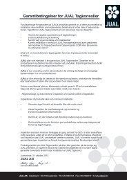 Garantibetingelser for JUAL Tagkonsoller