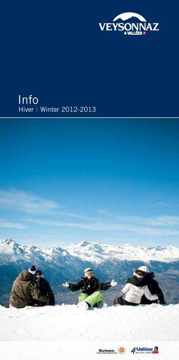 Brochure hiver 2012-2013 - Veysonnaz