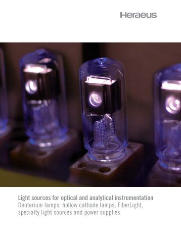 Light sources for optical and analytical instrumentation ... - Plusto.com