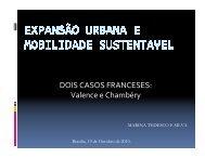 Expansão Urbana e Mobilidade Sustentável