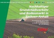 Nachhaltiger Grundstückverkehr und Bodenmarkt in Sachsen-Anhalt