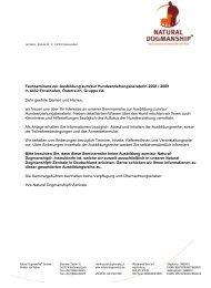 Informationen und Anmeldung zur Ausbildung zum - Hundewelt.at