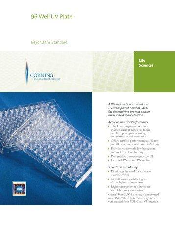 96 Well UV-Plate: Beyond the Standard