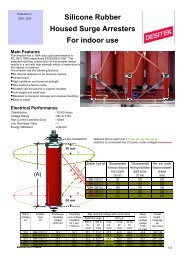 Silicone Rubber Housed Surge Arresters For indoor ... - DESITEK A/S