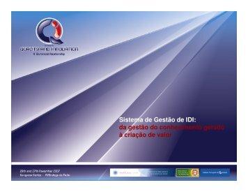 (Microsoft PowerPoint - Luis Filipe Pereira 2007- SISTEMA ... - IPQ