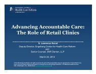 The Role of Retail Clinics - Food Marketing Institute