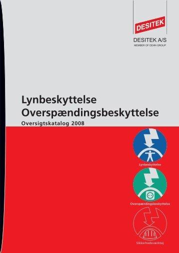 Lyn- og Overspændingsbeskyttelse Oversigtskatalog ... - DESITEK A/S