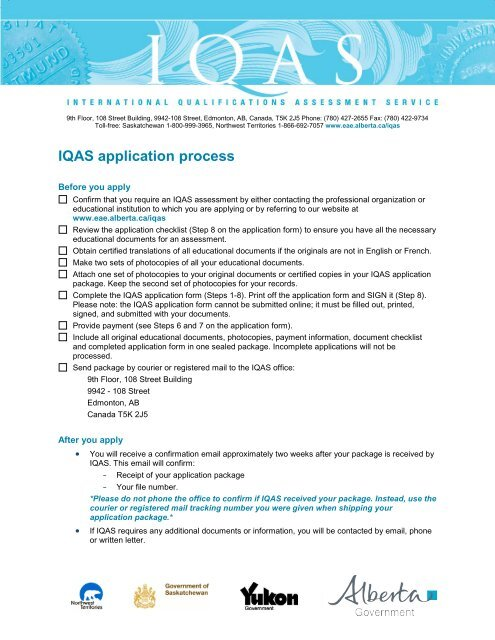 IQAS Application Process