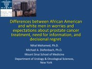 Differences between African American and White men in worries a