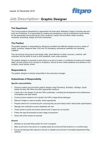 Trainee Job Positions Field   Graphic Designer