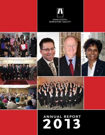 2013 NSBS Annual Report - Nova Scotia Barristers' Society