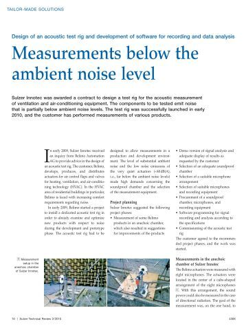 ambient noise level and chuck Are there noise meters with a range of measurement starting from a low decibel level of approximately 0 db how can we determine the noise level in a quiet.