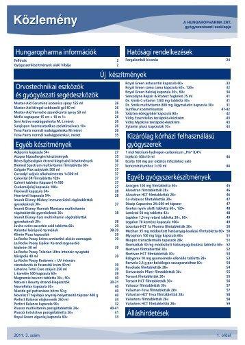 Közlemény - Hungaropharma ZRt.