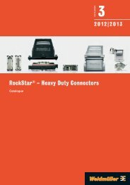 Каталог Weidmuller: RockStar® – Heavy Duty Connectors