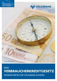 VERBRAUCHERKREDITGESETZ - Volksbank Wien AG