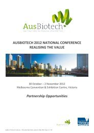 TITLE PAGE - Ausbiotech National Conference