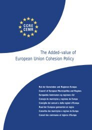 The Added-value of European Union Cohesion Policy - Council of ...