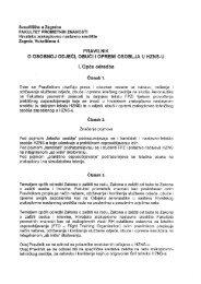 , PRAVILNiK - Fakultet prometnih znanosti - Sveučilište u Zagrebu