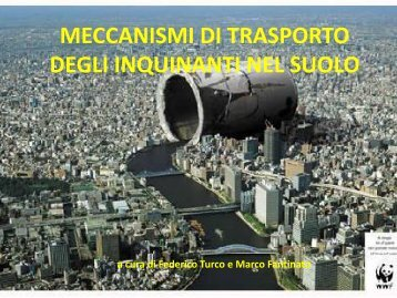Lezione 5/2013 - Meccanismi di trasporto degli inquinanti nel suolo