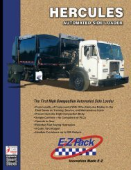 The First High Compaction Automated Side Loader - EZ Pack Trucks