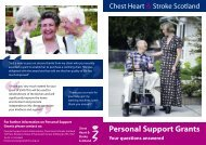 CHSS Support Grant Leaflet - Chest Heart & Stroke Scotland