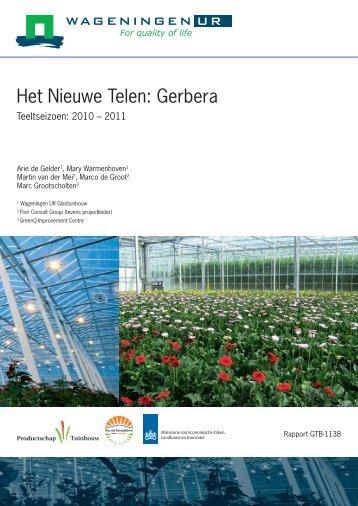 Het Nieuwe Telen Gerbera 2010-2011 - Energiek2020