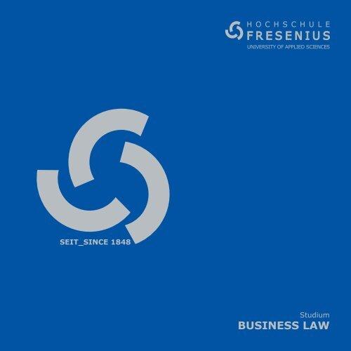 BUSINESS LAW - Hochschule Fresenius
