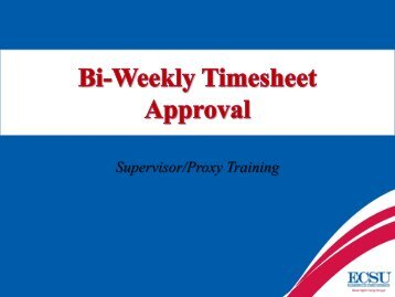 Bi-Weekly Timesheet Approval