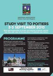PRoGRAmme - European Association of Historic Towns & Regions