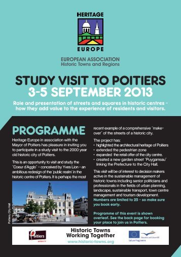 PRoGRAmme - European Association of Historic Towns & Regions